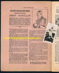 1929 Original comic AND card, seen on the front cover McMullan Man City